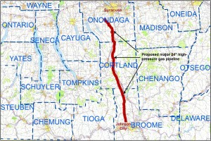 Proposed pipeline route (Click to enlarge)