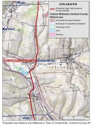 Proposed pipeline route through the Town of Cortlandville