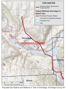 Proposed pipeline route through Town of Onondaga